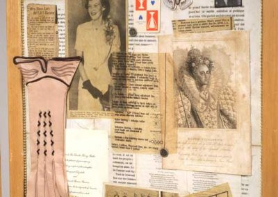 """Detail 3 of screen collage titled """"Ye Olde Gender Profiling"""" created by Ruth Lozner"""