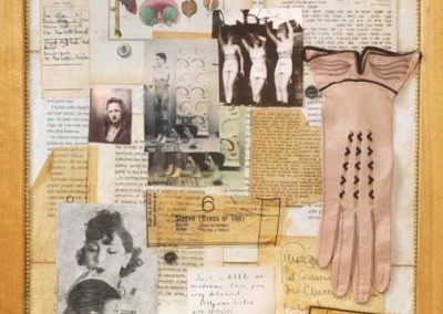 """Detail 4 of screen collage titled """"Ye Olde Gender Profiling"""" created by Ruth Lozner"""