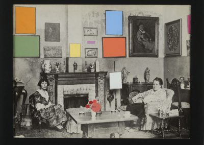 """Collage series titled """"Color in Context"""" by Ruth Lozner"""