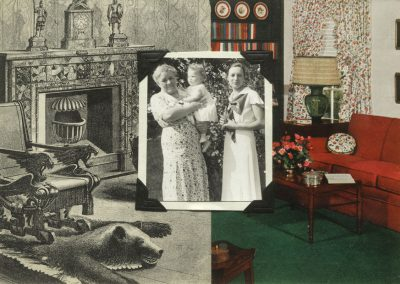 """Collage Created by Ruth Lozner titled """"End of an Era 2"""""""