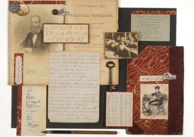 """Collage by Ruth Lozner titled """"Spencerian Script"""""""