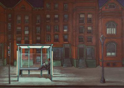 "Painting titled ""Washington Night Scene , March 2020, 3am"". 24"" x 32"""