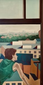 """Painting by Ruth Lozner titled """"Philadelphia Afternoon"""""""