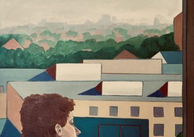 Philadelphia Afternoon. acrylic on canvas, 38 x 50