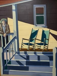 """Painting by Ruth Lozner tilted """"Sunday Morning"""""""
