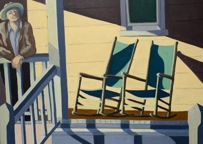 Sunny Morning.36 x 48, acrylic on canvas