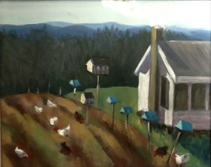 """Painting by Ruth Lozner titled """"Sweet Briar Farm"""""""