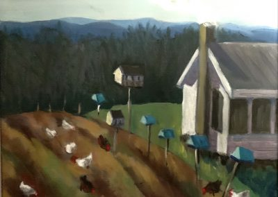 Sweet Briar Farm, acrylic on canvas,12 x 16