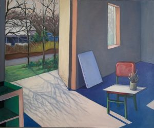 """Painting by Ruth Lozner titled """"Sweet Briar Studio 1"""""""