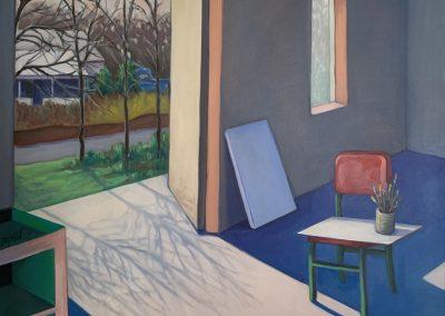 Sweet Briar Studio 1, acrylic on canvas, 30 x 36