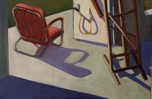 """Painting by Ruth Lozner titled """"Sweet Briar Studio 2"""""""