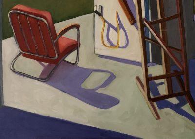 Sweet Briar Studio 2, acrylic on canvas, 24 x 18